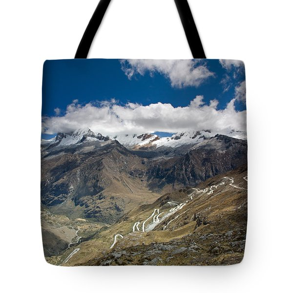 View From Portachuelo Pass Tote Bag by Aivar Mikko