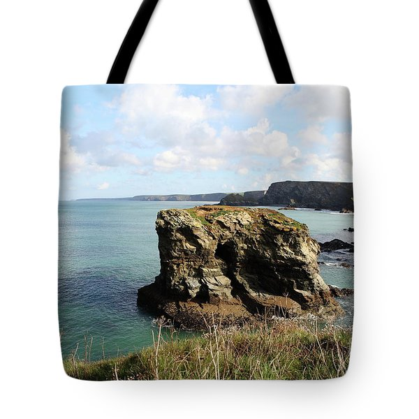 Tote Bag featuring the photograph View From Porth Peninsula by Nicholas Burningham