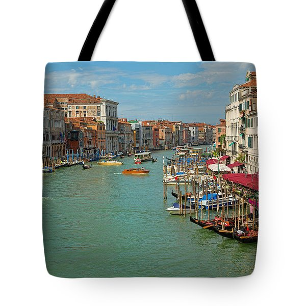 Tote Bag featuring the photograph View From Rialto Bridge by Sharon Jones