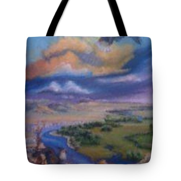 Tote Bag featuring the painting View From Sheep Rock by Dawn Senior-Trask