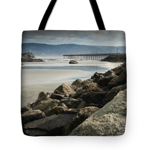View From The Beach Tote Bag by Betty Depee