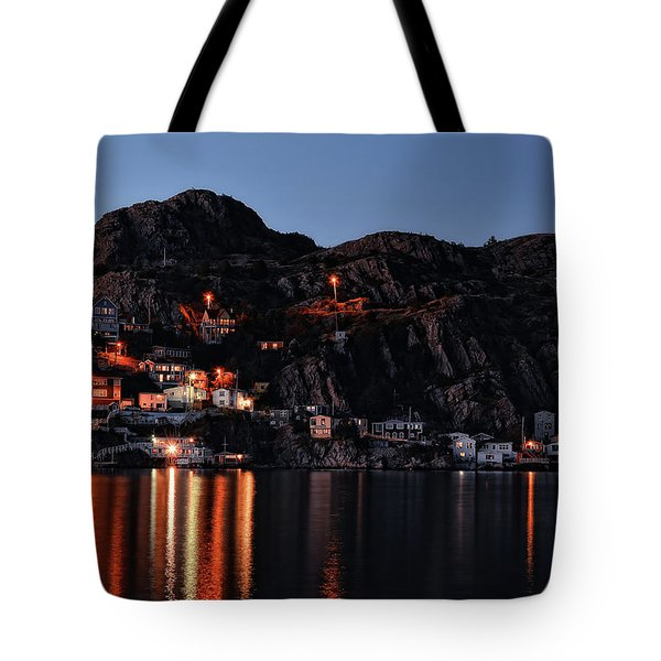 View From The Harbor St Johns Newfoundland Canada At Dusk Tote Bag