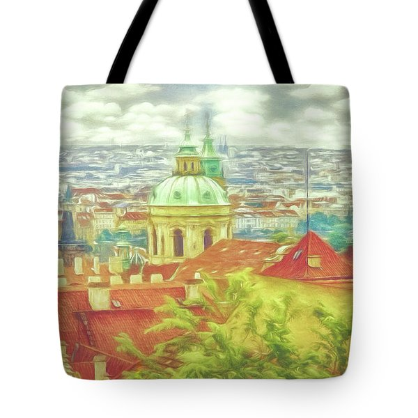 View From The High Ground - Prague  Tote Bag