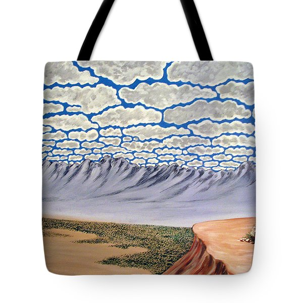 View From The Mesa Tote Bag by Marco Morales
