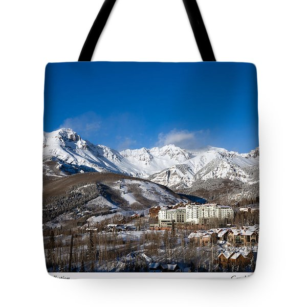 View From The Mountain Above Telluride Tote Bag