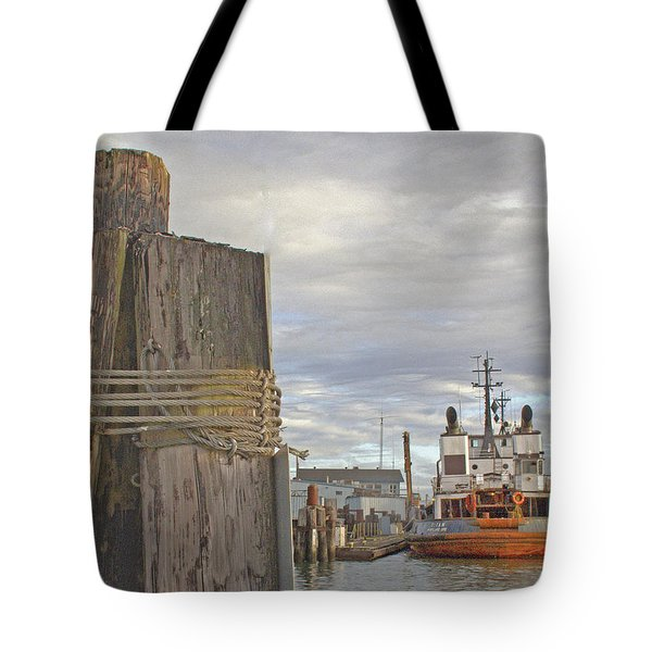 View From The Pilings Tote Bag