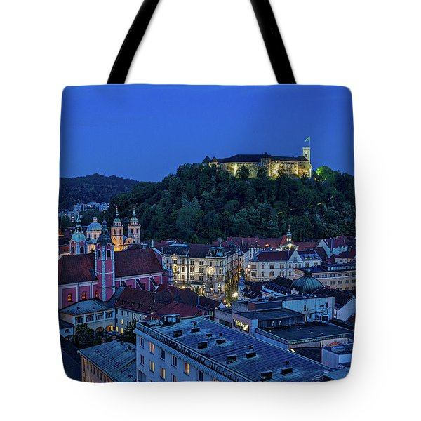 Tote Bag featuring the photograph View From The Skyscraper #2 - Slovenia by Stuart Litoff