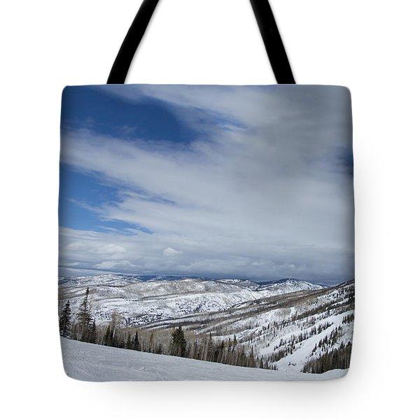 View From The Slope Tote Bag