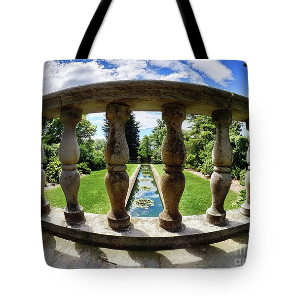 View From The Summer Garden Tote Bag by Mark Miller