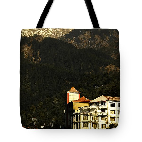 View From The Temple Tote Bag by Rajiv Chopra