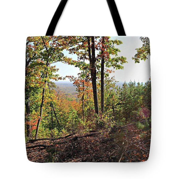 View From The Top Of Brown's Mountain Trail, Kings Mountain Stat Tote Bag