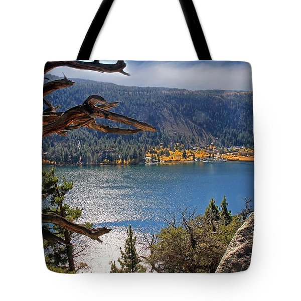 Tote Bag featuring the photograph View From The Top Of June Lake by Donna Kennedy