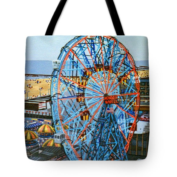 View From The Top Of The Cyclone Rollercoaster Tote Bag