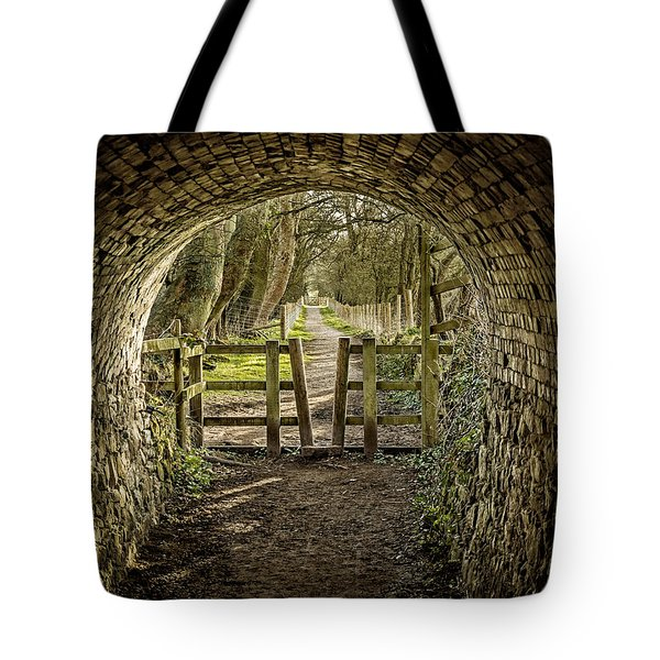 View From The Tunnel Tote Bag