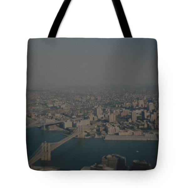 View From The  W T C  Tote Bag by Rob Hans