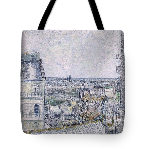 View From Vincent's Room In The Rue Lepic Tote Bag by Vincent van Gogh