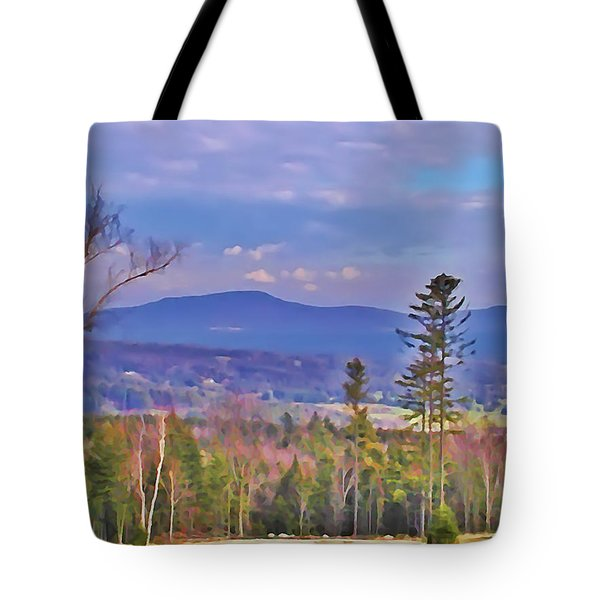View From Von Trapps Lodge 1 Tote Bag by Bill Cannon
