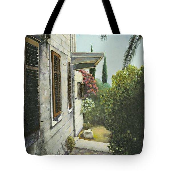 View In A Croatian Garden Tote Bag