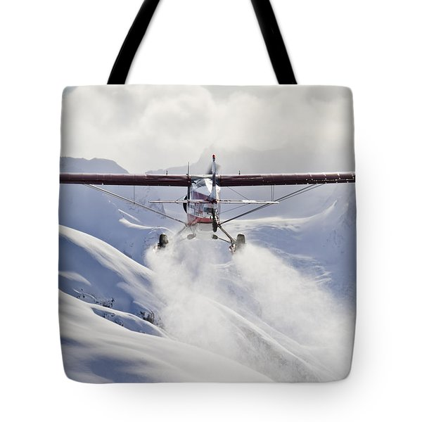 View Of A Super Cub Air Taxi At Tanaina Tote Bag