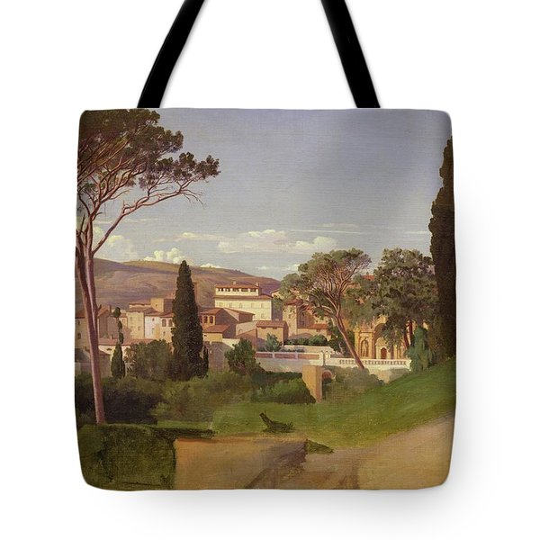 View Of A Villa Tote Bag by Jean Achille Benouville