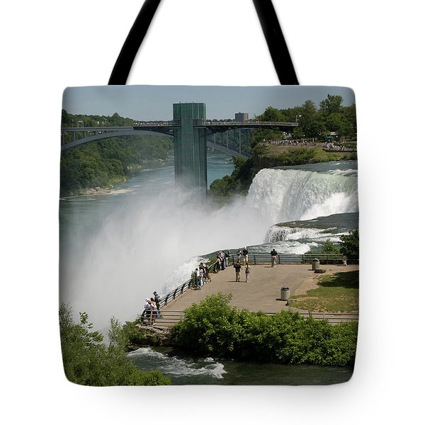 Tote Bag featuring the photograph View Of American Niagara Falls by Jeff Folger
