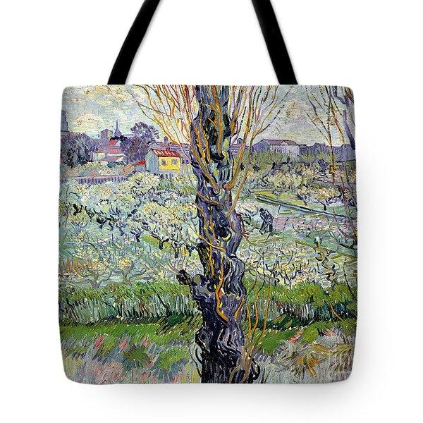 View Of Arles Tote Bag by Vincent Van Gogh