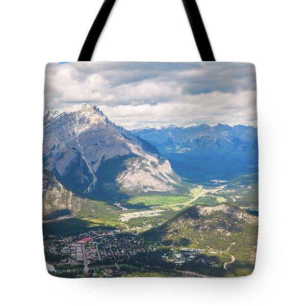 View Of Banff Tote Bag