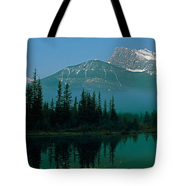 View Of Beaver Pond, Three Sisters Tote Bag