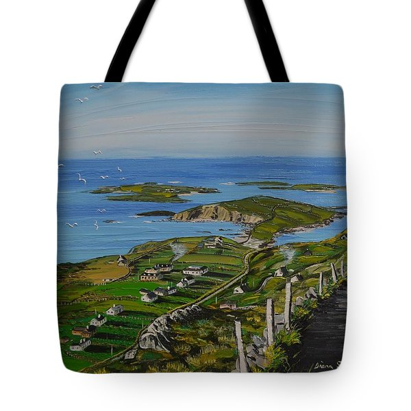 View Of Clifden Bay From Sky Road Clifden Co Galway Tote Bag
