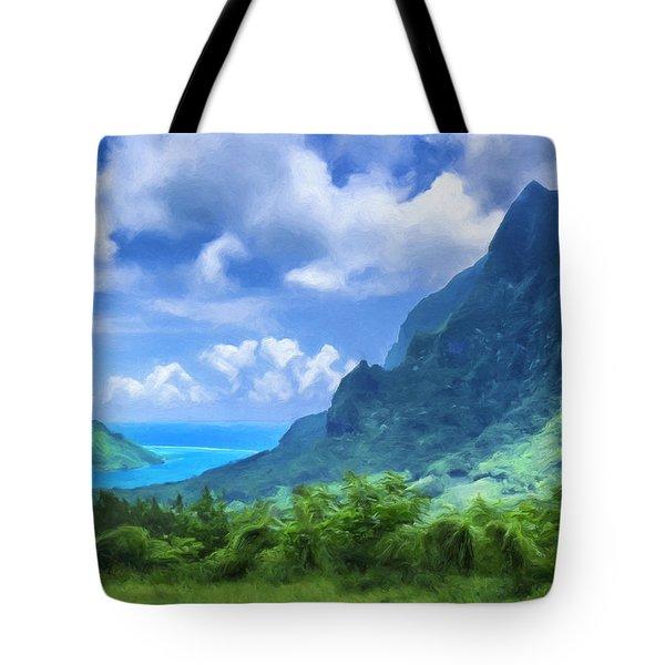 View Of Cook's Bay Mo'orea Tote Bag