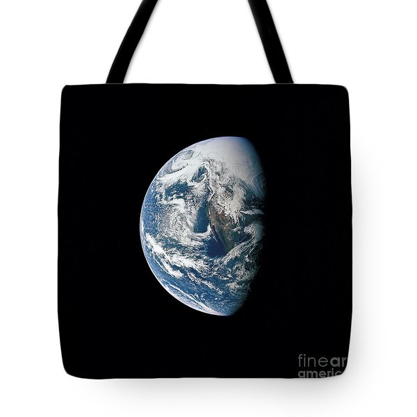 View Of Earth Taken From The Apollo 13 Tote Bag by Stocktrek Images