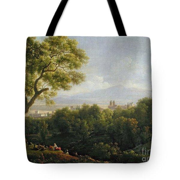 View Of Frascati Tote Bag by Jean Bidauld