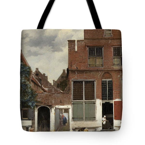 View Of Houses In Delft, Known As The Little Street Tote Bag