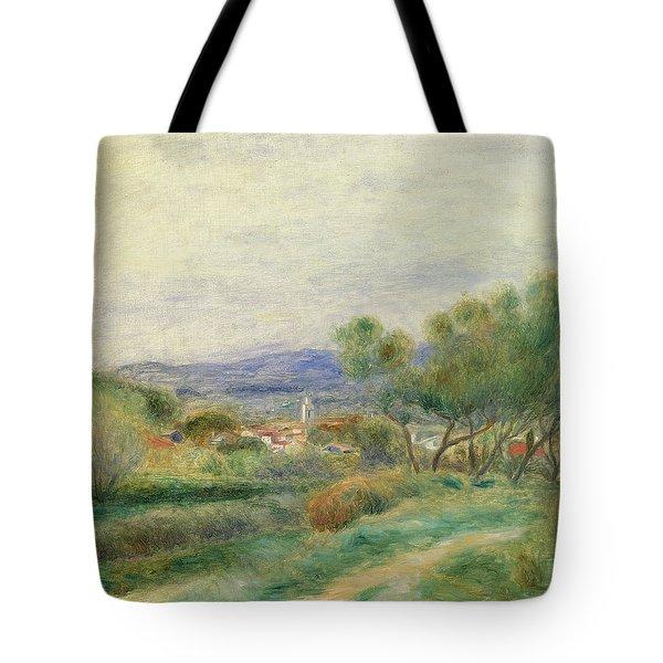 View Of La Seyne Tote Bag by Pierre Auguste Renoir