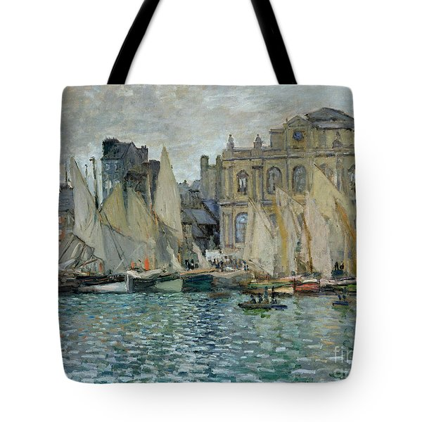 View Of Le Havre Tote Bag by Claude Monet