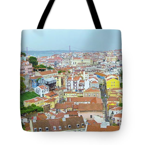 Tote Bag featuring the photograph View Of Lisbon by Patricia Schaefer