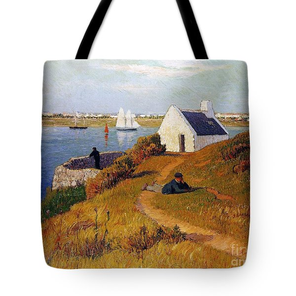 View Of Lorient In Brittany Tote Bag by Henry Moret