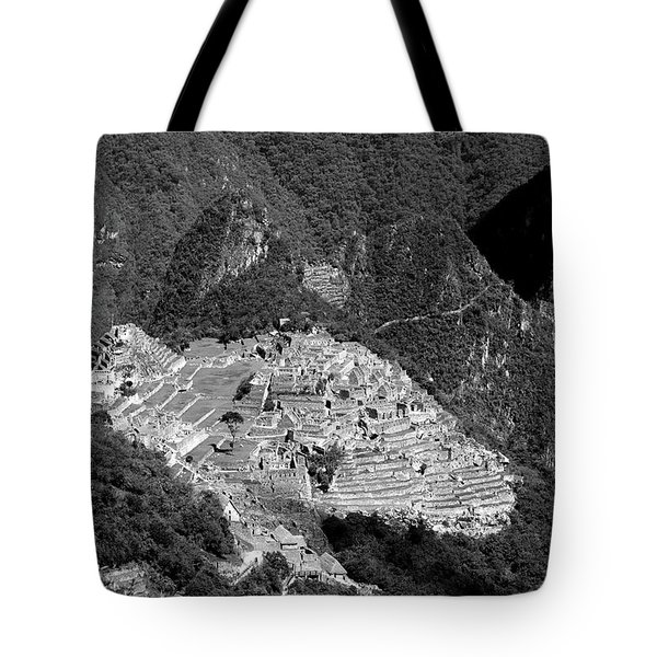 View Of Machu Picchu From The Inca Trail Tote Bag