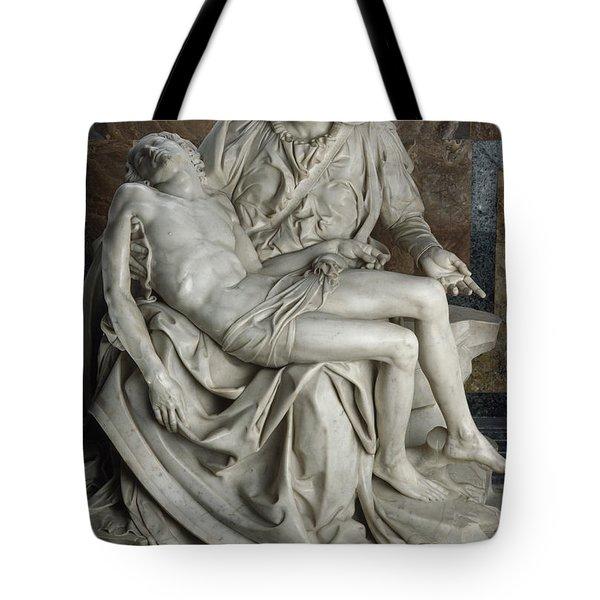 View Of Michelangelos Famous Sculpture Tote Bag by James L. Stanfield