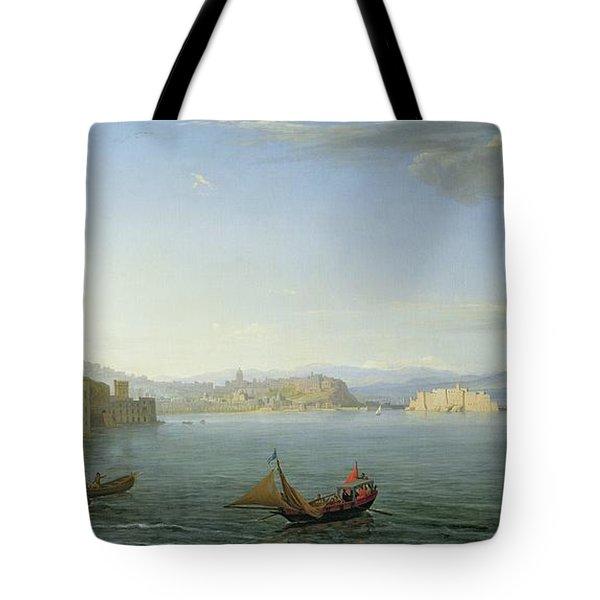 View Of Naples Tote Bag by Adrien Manglard