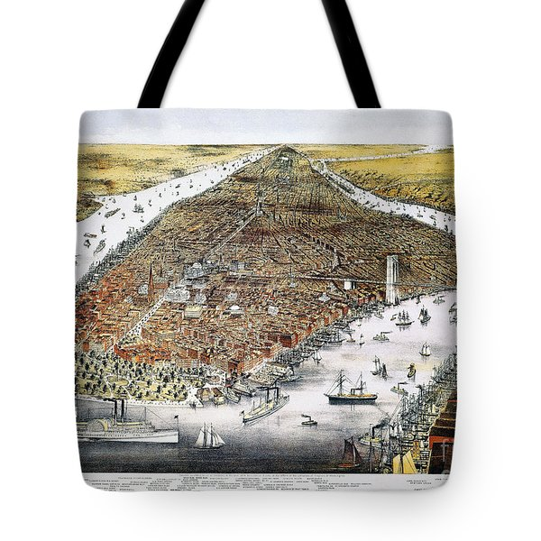 View Of New York, 1876 Tote Bag by Granger