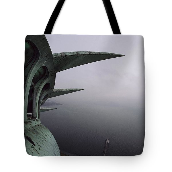 View Of New York Harbor From The Top Tote Bag