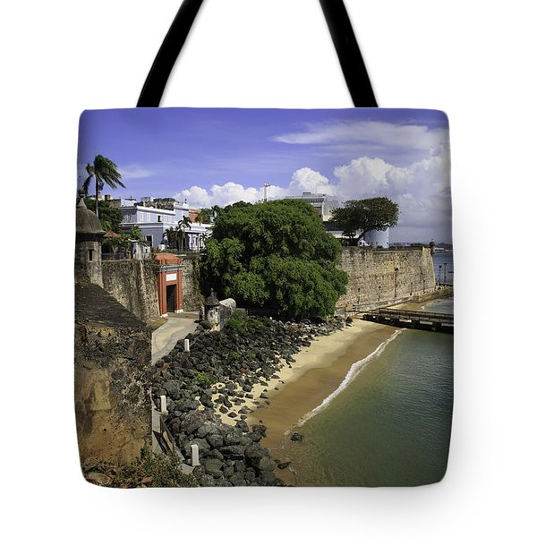 Tote Bag featuring the photograph View Of Old San Juan by Jose Oquendo