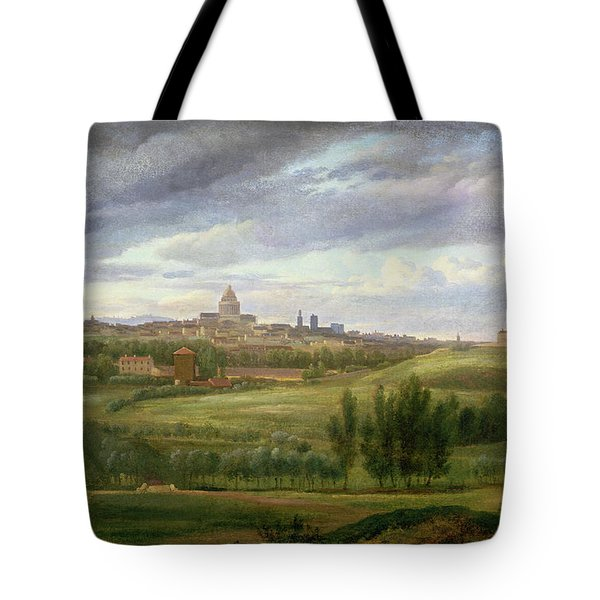 View Of Paris From Butte Aux Cailles Tote Bag by Jean Baptiste Gabriel Langlace