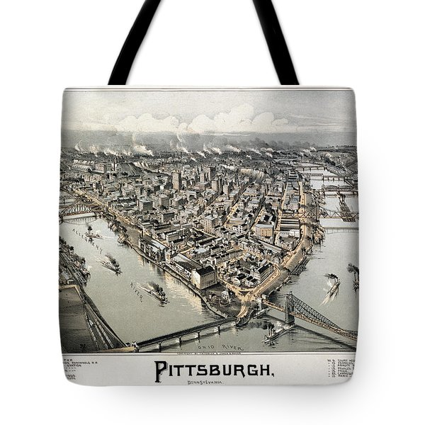 View Of Pittsburgh, 1902 Tote Bag by Granger
