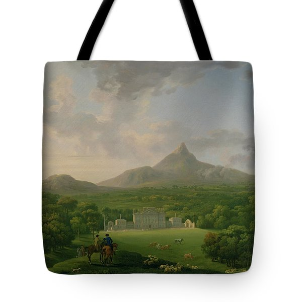 View Of Powerscourt - County Wicklow Tote Bag by George the Elder Barret