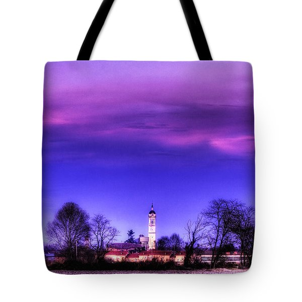 View Of San Giorgio Lomellina Tote Bag