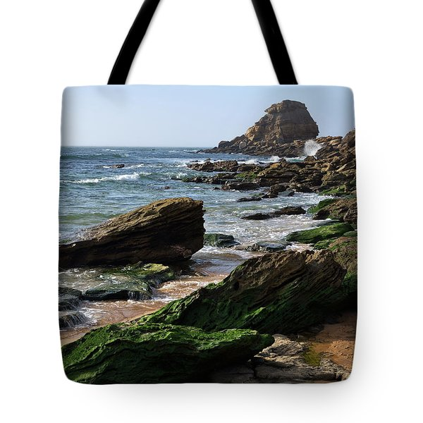 View Of Santa Rita Beach In Torres Vedras Tote Bag