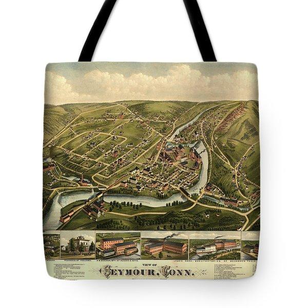 View Of Seymour, Conn. Tote Bag