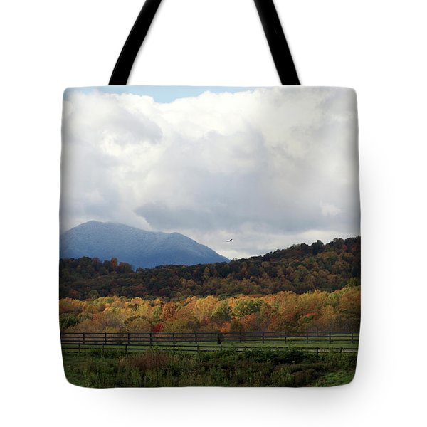 View Of Sharp Top In Blue Ridge Mountains Tote Bag